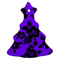 Violet Dark Hawaiian Ornament (Christmas Tree)