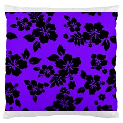 Violet Dark Hawaiian Large Cushion Case (two Sides)