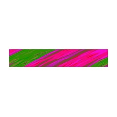 Swish Bright Pink Green Design Flano Scarf (Mini)