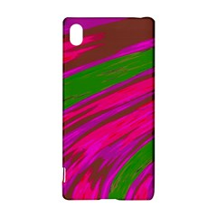 Swish Bright Pink Green Design Sony Xperia Z3+