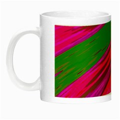 Swish Bright Pink Green Design Night Luminous Mugs