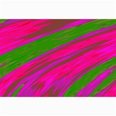 Swish Bright Pink Green Design Collage Prints