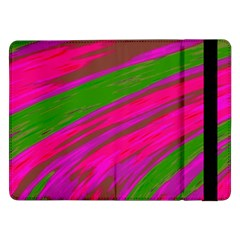 Swish Bright Pink Green Design Samsung Galaxy Tab Pro 12.2  Flip Case
