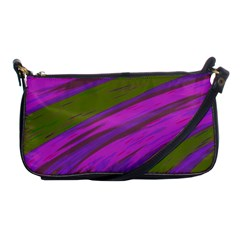 Swish Purple Green Shoulder Clutch Bags