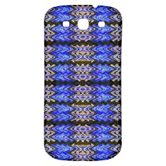 Pattern Tile Blue White Green Samsung Galaxy S3 S III Classic Hardshell Back Case