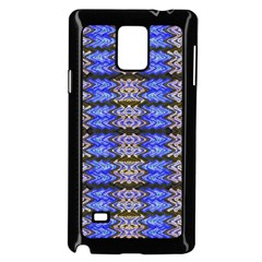 Pattern Tile Blue White Green Samsung Galaxy Note 4 Case (Black)