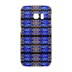 Pattern Tile Blue White Green Galaxy S6 Edge