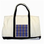 Pattern Tile Blue White Green Two Tone Tote Bag Front
