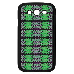 Pattern Tile Green Purple Samsung Galaxy Grand DUOS I9082 Case (Black)