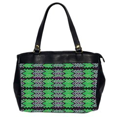 Pattern Tile Green Purple Office Handbags (2 Sides)