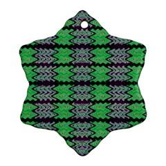 Pattern Tile Green Purple Ornament (Snowflake)