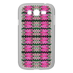 Pattern Tile Pink Green White Samsung Galaxy Grand DUOS I9082 Case (White)