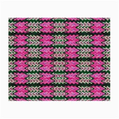 Pattern Tile Pink Green White Small Glasses Cloth (2-Side)