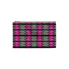 Pattern Tile Pink Green White Cosmetic Bag (Small)