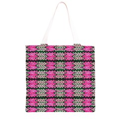 Pattern Tile Pink Green White Grocery Light Tote Bag
