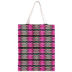 Pattern Tile Pink Green White Classic Light Tote Bag