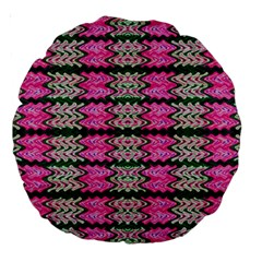 Pattern Tile Pink Green White Large 18  Premium Round Cushions