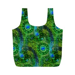 Emerald Boho Abstract Full Print Recycle Bags (M)