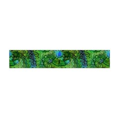 Emerald Boho Abstract Flano Scarf (Mini)