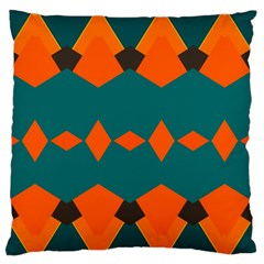 Rhombus and other shapes                                                                      	Large Flano Cushion Case (Two Sides)