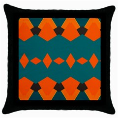 Rhombus and other shapes                                                                      Throw Pillow Case (Black)