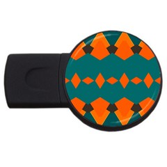 Rhombus and other shapes                                                                      			USB Flash Drive Round (2 GB)