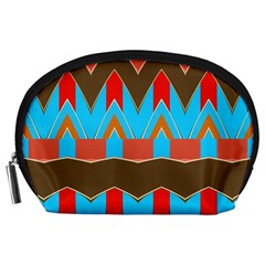 Blue Brown Chevrons                                                                       Accessory Pouch