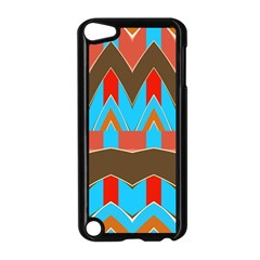 Blue brown chevrons                                                                       Apple iPod Touch 5 Case (Black)