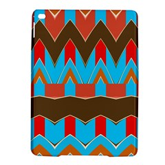 Blue brown chevrons                                                                       			Apple iPad Air 2 Hardshell Case