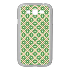 Crisscross Pastel Green Beige Samsung Galaxy Grand DUOS I9082 Case (White)