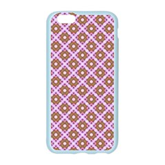 Crisscross Pastel Pink Yellow Apple Seamless iPhone 6/6S Case (Color)
