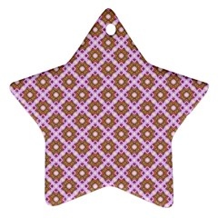 Crisscross Pastel Pink Yellow Ornament (Star)