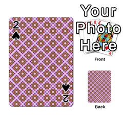 Crisscross Pastel Pink Yellow Playing Cards 54 Designs