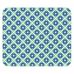 Crisscross Pastel Turquoise Blue Double Sided Flano Blanket (Small)