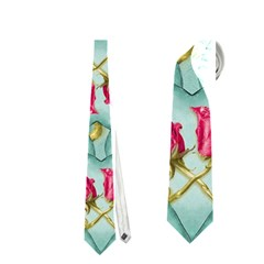 Love Motif Pattern Print Neckties (One Side)