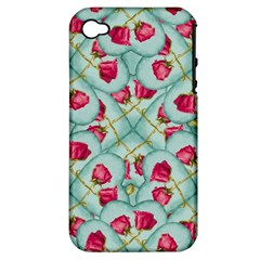 Love Motif Pattern Print Apple iPhone 4/4S Hardshell Case (PC+Silicone)