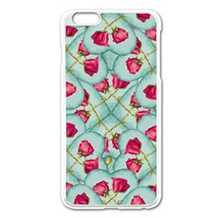 Love Motif Pattern Print Apple iPhone 6 Plus/6S Plus Enamel White Case