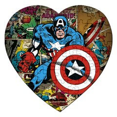 Captain America Stussy X Marvel Comics Series 1 Posters Jigsaw Puzzle (Heart)