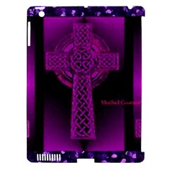 Purple Celtic Cross Apple iPad 3/4 Hardshell Case (Compatible with Smart Cover)