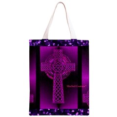 Purple Celtic Cross Classic Light Tote Bag