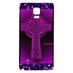 Purple Celtic Cross Galaxy Note 4 Back Case