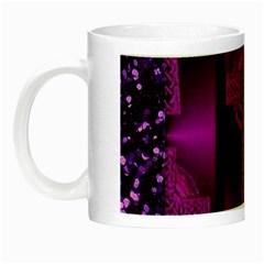 Purple Celtic Cross Night Luminous Mugs