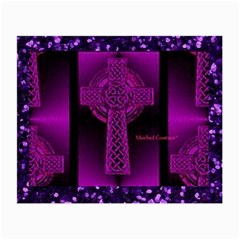 Purple Celtic Cross Small Glasses Cloth (2-Side)