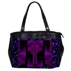 Purple Celtic Cross Office Handbags