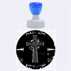 Purple Celtic Cross Rubber Round Stamps (Large)