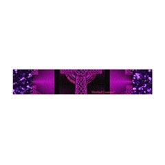 Purple Celtic Cross Flano Scarf (Mini)