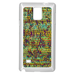 Multicolored Digital Grunge Print Samsung Galaxy Note 4 Case (White)