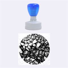 Fractal Stained Glass Rubber Round Stamps (Medium)