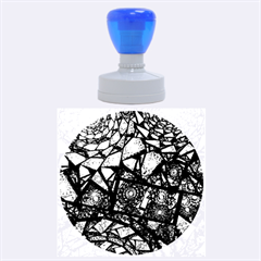 Fractal Stained Glass Rubber Round Stamps (Large)