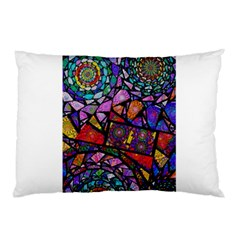 Fractal Stained Glass Pillow Case (two Sides)